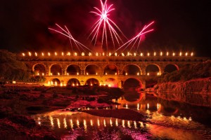 pont feux d'artifice